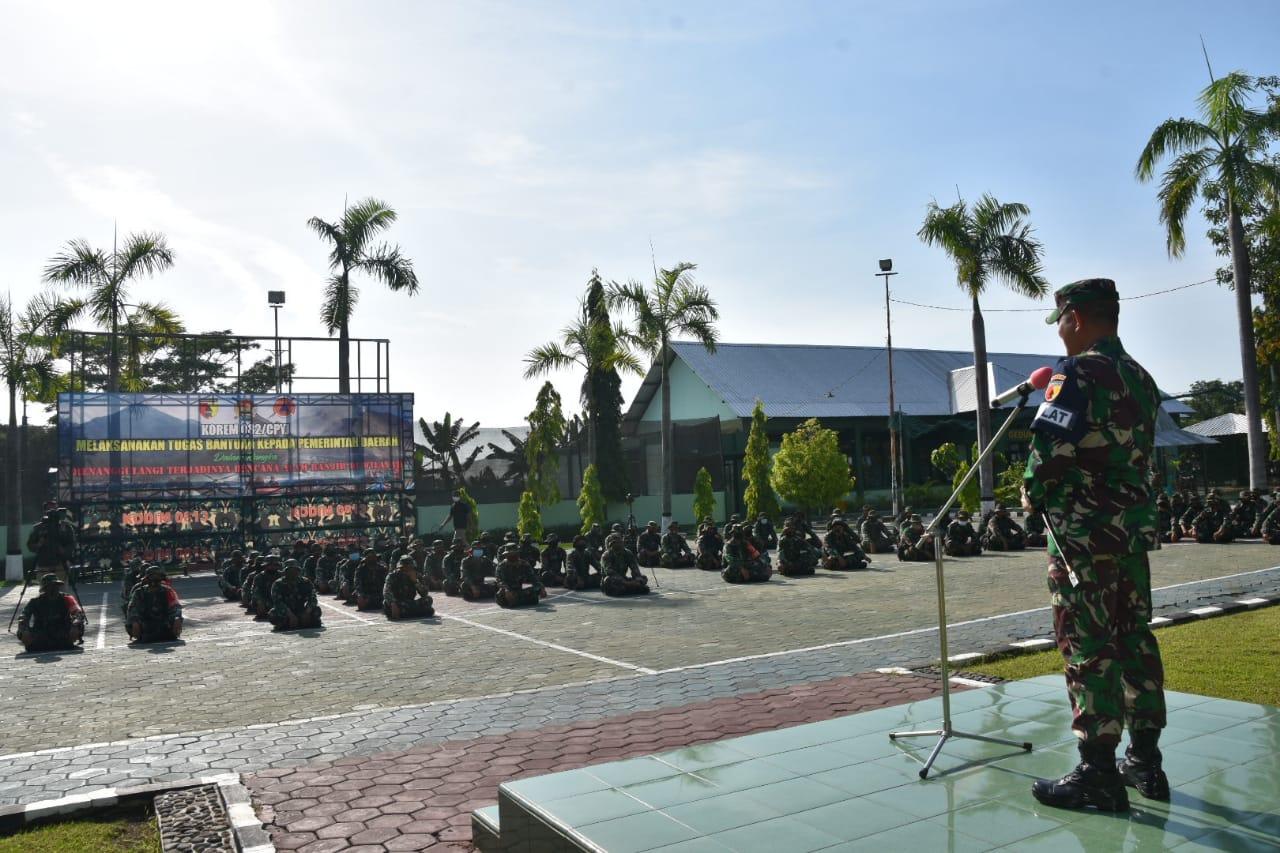 Danrem 082/CPYJ Buka Latihan Penanggulangan Bencana Alam